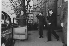 General MacArthur leaving the Dai Ich building for the American Embassy on 71st Birthday