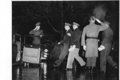 General MacArthur leaving headquarters in Japan the day he was relieved of his duties