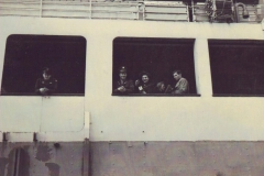 M-Sgt. Bledsoe & family heading back to the States - 1947.